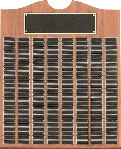 perpetual plaque in walnut